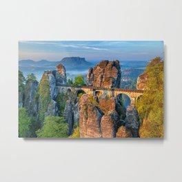 Bastei Bridge (Switzerland & Germany) Metal Print