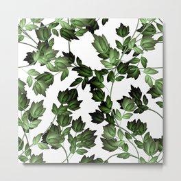 Beautiful Floral Design Pattern Metal Print