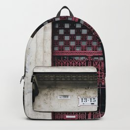 Ruby Red Budapest Door Backpack