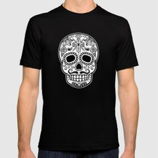Mexican Skull - Black Edition Mens Fitted Tee Black LARGE