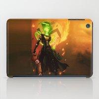 aquaman iPad Cases featuring Anne Frankenstein AF1 by Lazy Bones Studios