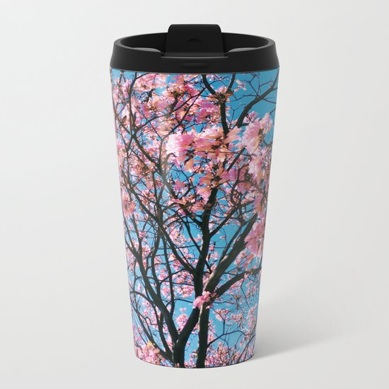 spring nuances Metal Travel Mug