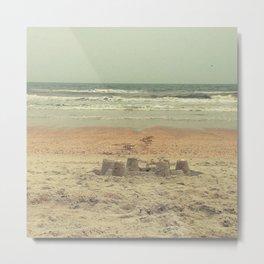 sandcastle on the shore Metal Print