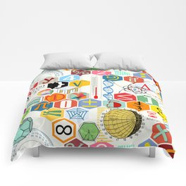 Math in color (white Background) Comforters