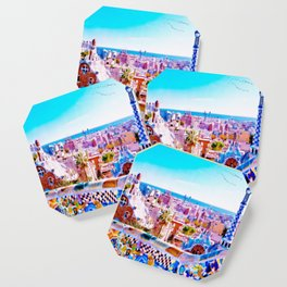 Park Guell Watercolor painting Coaster