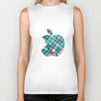 apple Biker Tanks featuring APPLE by Monika Strigel