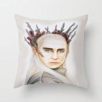 thranduil Throw Pillows featuring Thranduil by Olivia Nicholls-Bates