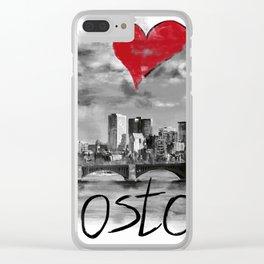 I love Boston Clear iPhone Case