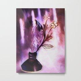 Flowering Inkwell Metal Print