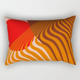 Beyond The Fog - Red & Brown Rectangular Pillow