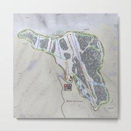 Bald Mountain Resort Trail Map Metal Print