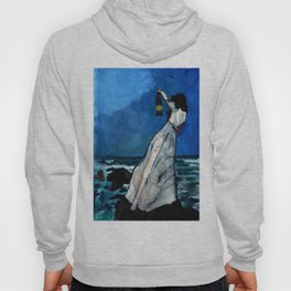 She lived almost alone in a sea of storms. Hoody