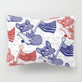 Foxes and flags Pillow Sham