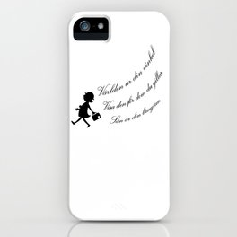 Find your angle_Wing_Black iPhone Case