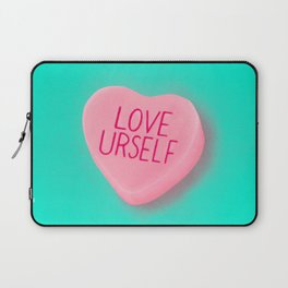 Love Yourself Candy Conversation Hearts Laptop Sleeve