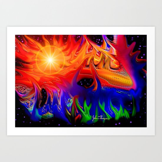 Cosmic colors Art Print