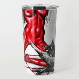 Don´t touch my pussy, the red lady Travel Mug