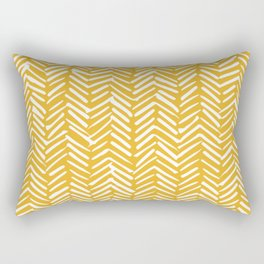 Boho Mudcloth Pattern, Summer Yellow Rectangular Pillow