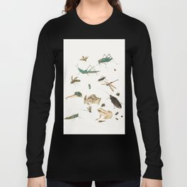 Insects, frogs and a snail Long Sleeve T-shirt