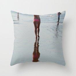 Along the Shoreline Arambol Throw Pillow