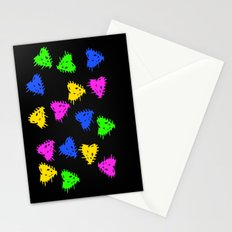 Scribbled Hearts Stationery Cards
