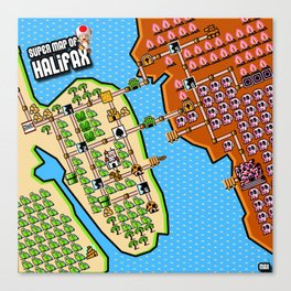 Super Map of Halifax Canvas Print