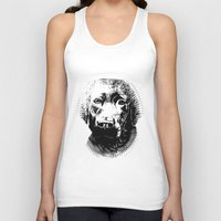 lab Tank Tops featuring Black Lab by Animart