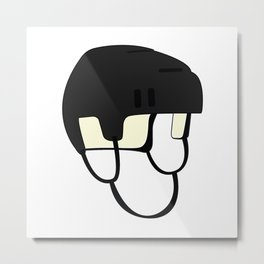 Hockey Helmet Metal Print