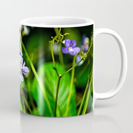 Blue, Violet & White Cluster Of Small Flowers Closeup Coffee Mug