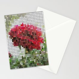 Red Rose with Light 1 Mosaic Stationery Cards