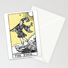 Geometric Tarot Print - The Fool Stationery Cards
