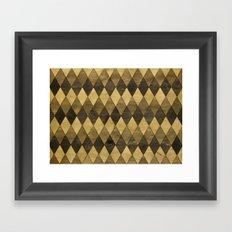 Wooden Diamonds Framed Art Print