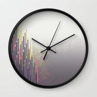 glitch Wall Clocks featuring glitch by Gabriele Omar Lakhal