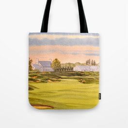 Whistling Straits Golf Course 9th And 18th Tote Bag