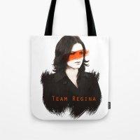 regina mills Tote Bags featuring Team Regina by Geek World
