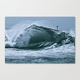 The Wedge Blue Barrel  Canvas Print