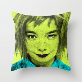 Björk Throw Pillow