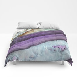 Purple Agate Slice Comforters
