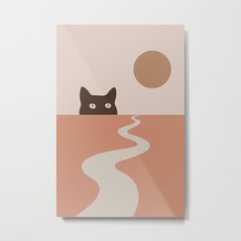 Cat Landscape 16 Metal Print