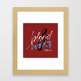 Blood & water Framed Art Print