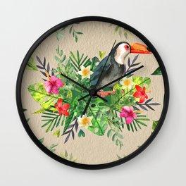 Tropic Wall-Bird Wall Clock