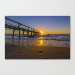 Southport Jetty at Sunrise Canvas Print