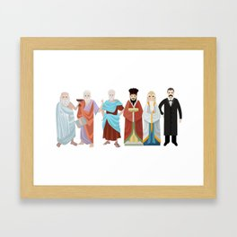 great philosophers from all times Framed Art Print