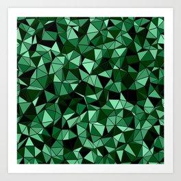 Emerald Lo Poly Art Print