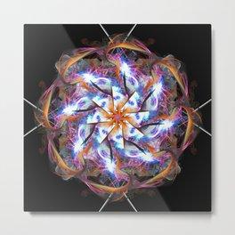 Spiral Arm Flame Mandala Metal Print