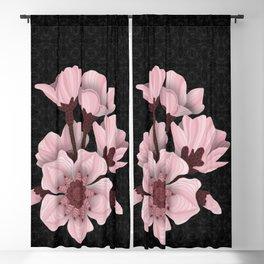 Cherry Blossom (black) Blackout Curtain