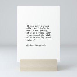 F. Scott Fitzgerald quote 6 Mini Art Print
