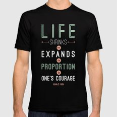 Life Mens Fitted Tee Black MEDIUM