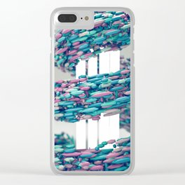 Hyper Pastel Swoop Clear iPhone Case