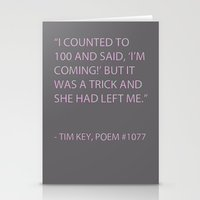 poem Stationery Cards featuring Poem #1077 by Deep Search